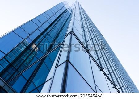 Office building facade - Shutterstock ID 703545466