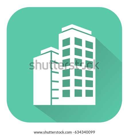 Office Building Icon Displays Corporate Cityscape 3d Illustration