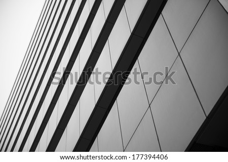 Office building, image on black an white #177394406
