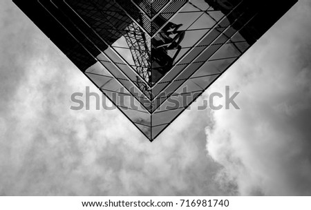 Office Building in Hong Kong, close up #716981740