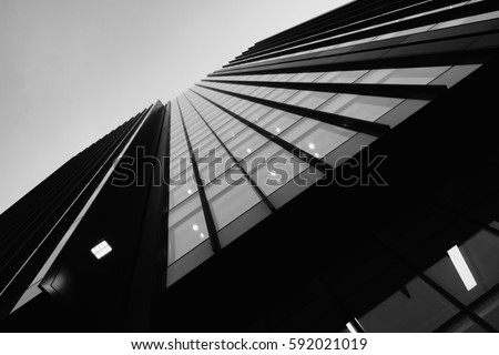Office building in monochrome #592021019
