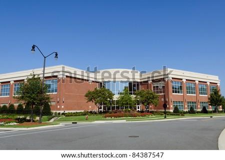 Office building in suburban area