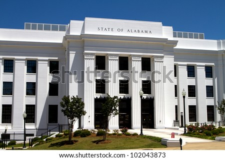 Office building of the attorney general of the state of Alabama located in the state capitol Montgomery, Alabama.