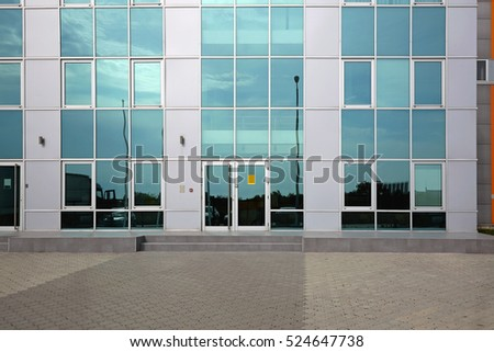 Office Building With Green Glass Facade #524647738