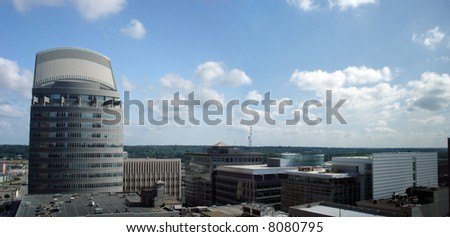 Office Buildings and Skyscrapers in downtown of Des Moines, Iowa