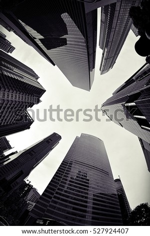 Office buildings in black and white #527924407
