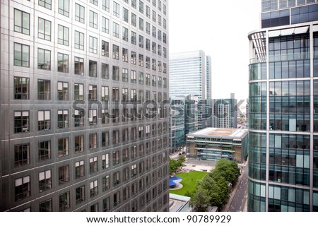 Office Buildings in Canary Wharf, London #90789929