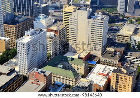 Office buildings in Downtown Atlanta, Georgia, USA