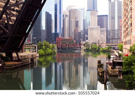 Office buildings in downtown Chicago