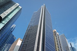 Office buildings in Makati , the business disctrict of Metro Manila.
