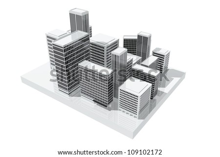 Office buildings in the city