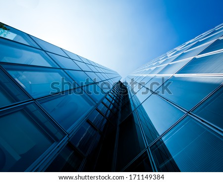 office buildings. modern glass silhouettes of skyscrapers #171149384