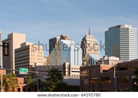 Office buildings of Oklahoma city downtown, USA - stock photo