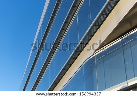 Office buildings with modern corporate architecture - business and success concept, blue sky, windows #156994337
