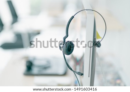 Office Business call center service 24 hour. Office Assistance Advisory talking communication and online sales. Team Business Operator in Office. Service Business, Call Center Team with Headset.