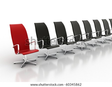 Office chair concept isolated on white background