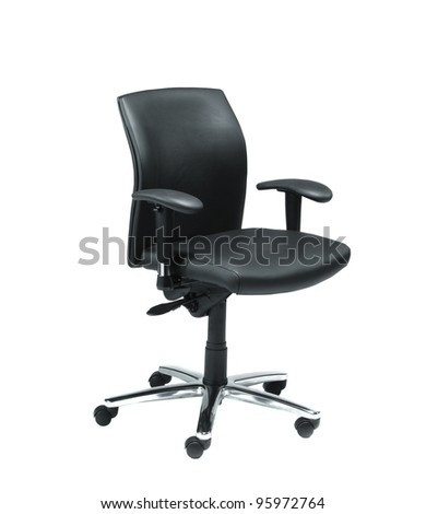 office chair from black leather