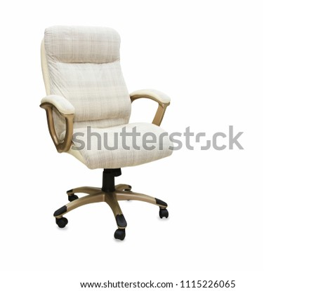 Office chair from gray cloth isolated over white #1115226065