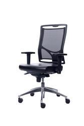 Office chair isolated over white background