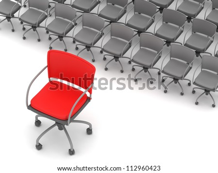 Office chairs - leadership concept