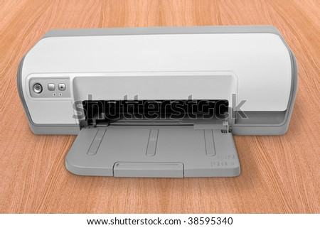 office computer technology. ink-jet printer witout paper