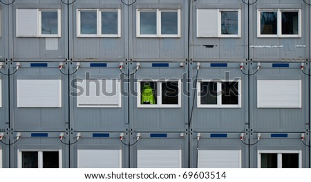 Office container on a construction site