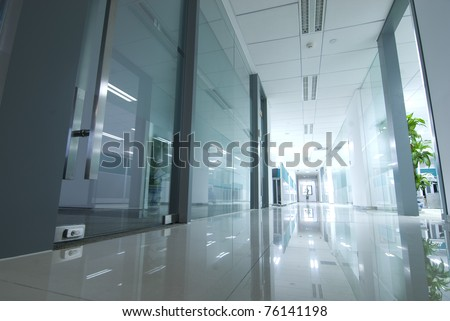 office corridor door glass