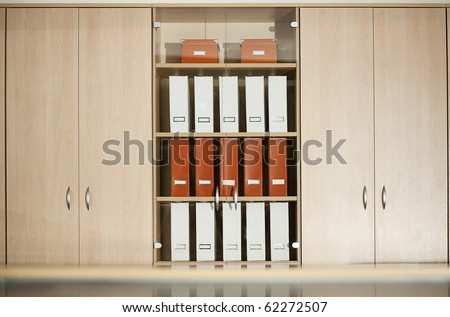 office filing cabinet with shelves