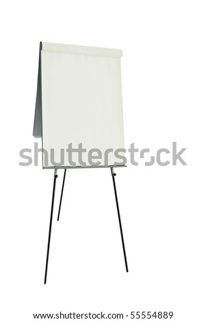 Office flip chart - stock photo