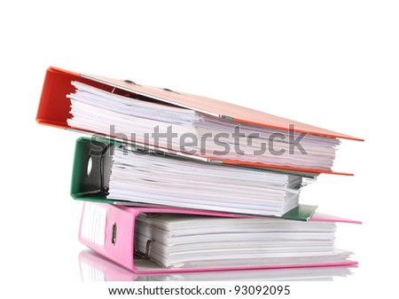 Office folders isolated on white #93092095
