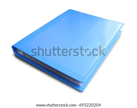 Office folders isolated on white background #693220204