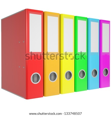 Office folders. Isolated render on a white background