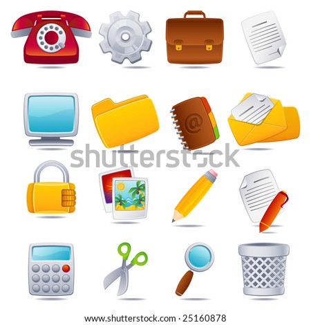 office icon set - raster version