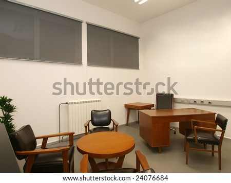 office interior, in retro style