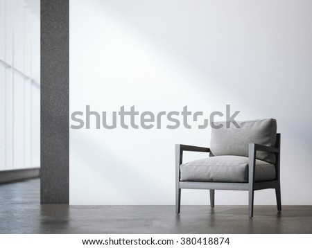 Office interior with armchair. 3d rendering