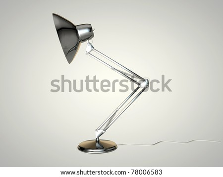 office lamp isolated on white background