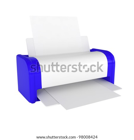 Office Laser Printer - 3d illustration