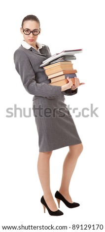 office manager, a girl in business attire - stock photo
