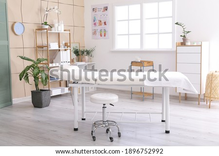 Office of massage therapist in modern medical center Foto stock ©