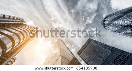 Office skyscraper Buildings Cityscape Personal Perspective Concept #654185908