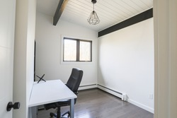 Office Space with Exposed Beams