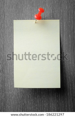 Office stickers on wooden grey background