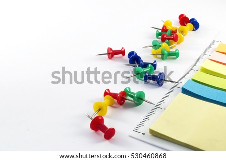 Office supplies on white background #530460868