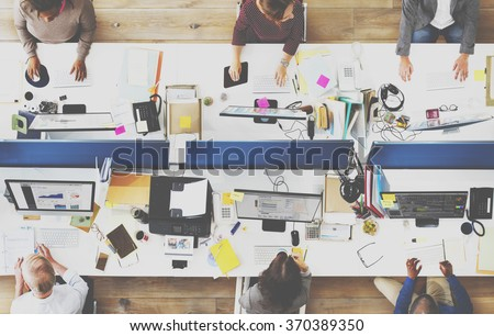 Office Team Working Togetherness Workplace Concept