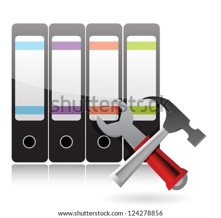 office tools Support concept illustration design over white
