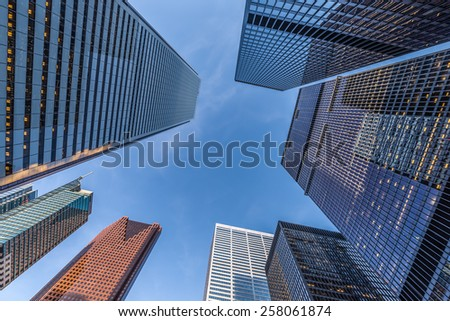 Office towers in the downtown financial district of Toronto Canada. #258061874
