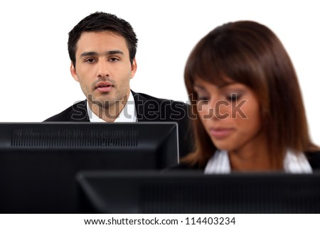 office worker at his desk