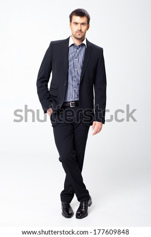 Office worker on white background