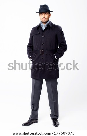 Office worker on white background - stock photo