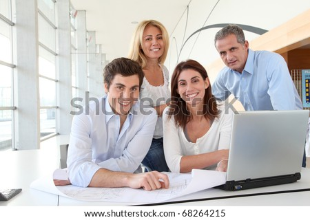 Office workers in business meeting